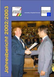 Jahresbericht 2002/2003 - Ohm-Hochschule Nürnberg