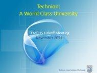 Technion: A World Class University - ecommis.eu