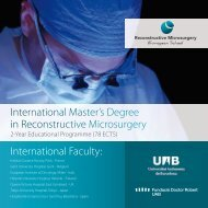 International Master's Degree in Reconstructive Microsurgery ...