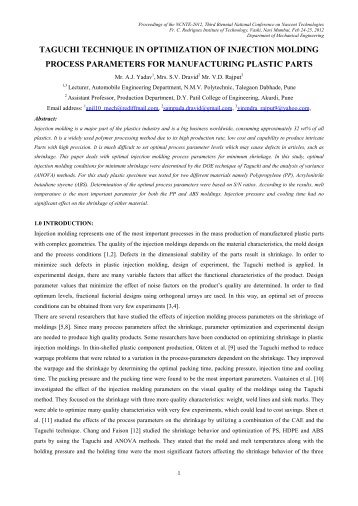 optimization of extrusion cooking process essay The extrusion cooking for process and product develop-ment in food and feed applications studies related to optimization of process variables for.