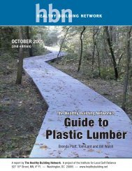 Guide to Plastic Lumber - Healthy Building Network