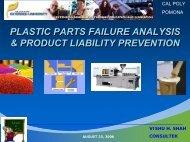 PLASTIC PARTS FAILURE ANALYSIS & PRODUCT ... - Consultek