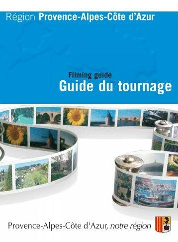 Guide du tournage - Régie Culturelle Régionale