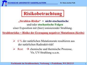 TAS TAS - Fachbereich Physik der Universität Kaiserslautern