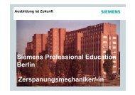 Siemens Professional Education Berlin Zerspanungsmechaniker/-in