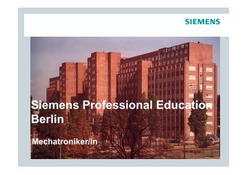Mechatroniker/in - Siemens