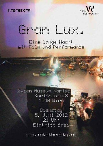 Gran Lux. - Wiener Festwochen