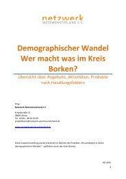 Demographischer Wandel Wer macht was im Kreis Borken?