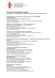 Schweizer Lehrangebote in Akustik - Schweizerische Gesellschaft ...