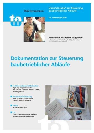 Dokumentation zur Steuerung baubetrieblicher Abläufe - AIA AG