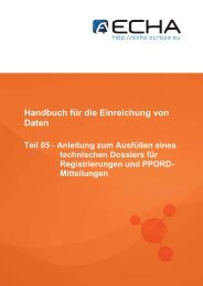 """Anhang 2 – Im Block """"Results and discussions"""" - ECHA - Europa"""