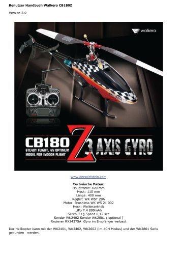 Benutzer Handbuch Walkera CB180Z Version 2.0 ... - Der Spielstein