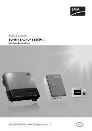 SUNNY BACKUP SYSTEM S - Technische Beschreibung