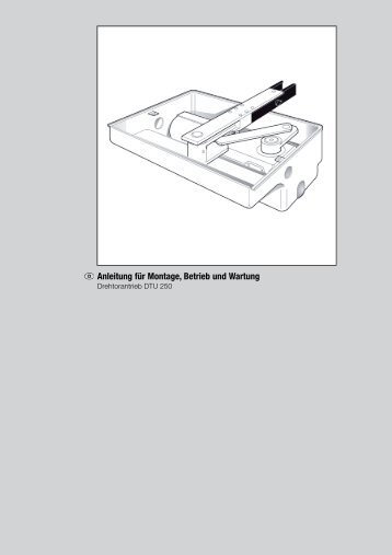 Anleitung für Montage, Betrieb und Wartung