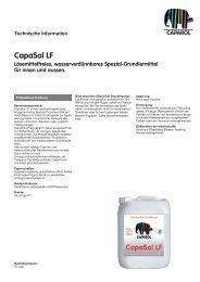 CapaSol LF Lösemittelfreies, wasserverdünnbares Spezial ...