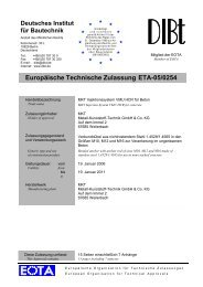 Europäische Technische Zulassung ETA-05/0254 - MKT