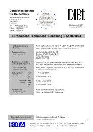 Europäische Technische Zulassung ETA-06/0074