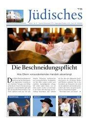 Die 37. Ausgabe von Jüdisches - Chabad Lubawitsch - Berlin