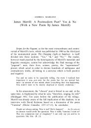 James Merrill: A Postmodern Poet? Yes & No (With a New Poem by ...