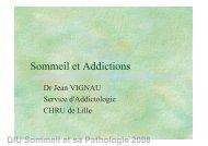 Sommeil et Addictions - SFRMS