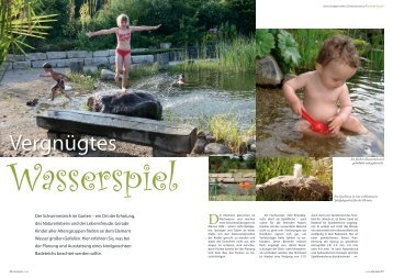 Wasser übt eine besondere Anziehungskraft auf ... - Teich und Garten