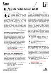Aktuelle Fortbildungen Sek I/II - Schulsport-Hamburg.de