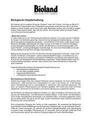 Biologische Karpfenhaltung - Bioland