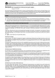 Merkblatt über die gesetzliche Unfallversicherung der Jagden