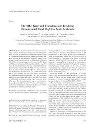 The MLL Gene and Translocations Involving Chromosomal Band ...