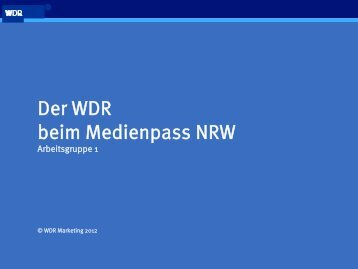 wdr kinderstudio - Medienberatung NRW