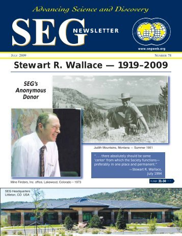 Stewart R. Wallace — 1919–2009 - Society of Economic Geologists