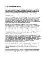 Kochen mit KaGee - EG Lüttgau Verlag