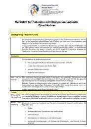 Merkblatt Obstipation-Divertikulose - Gemeinschaftspraxis Dr ...