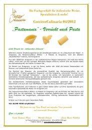 """CorriereCulinaria 04/2012 """"Pastamania""""- Verrückt nach Pasta Liebe ..."""