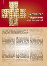 Schweizer Teigwaren haben einen guten Ruf - Pauli Cuisine