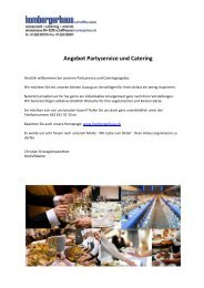 Angebot Partyservice und Catering - Munot
