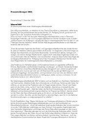 Pressemeldungen 2006 - Frauengesundheitszentrum