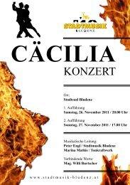 "Konzertprogramm ""Tonkraftwerk"" - Stadtmusik Bludenz"