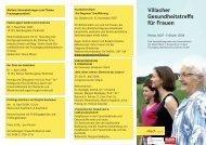 Villacher Gesundheitstreffs für Frauen - Frauengesundheitszentrum