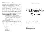 Wohltätigkeits- Konzert - Staatsbad Meinberg