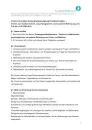 Satzung - Frauengesundheitszentrum Graz