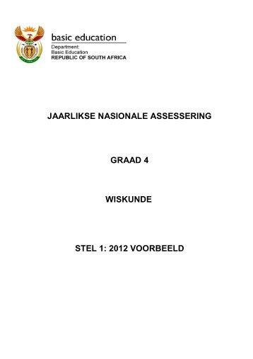 jaarlikse nasionale assessering graad 4 wiskunde stel 1