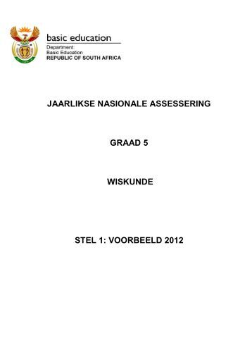 JAARLIKSE NASIONALE ASSESSERING GRAAD 5 WISKUNDE ...