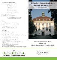 III. Berliner Bronchoskopie-Kurs Diagnostik und Intervention