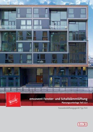 emcovent Fenster- und Schalldämmlüftung - emco klima