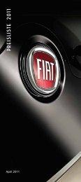Preisliste 2011 - Fiat