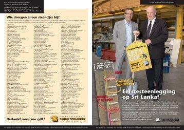 Eerstesteenlegging op Sri Lanka! - Bouwonderneming Oude Wolbers