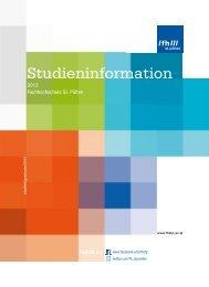 Studieninfo 2012 - Fachhochschule St. Pölten