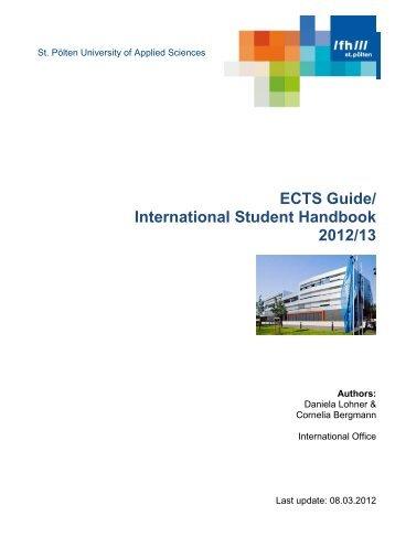 ECTS Guide - Fachhochschule St. Pölten