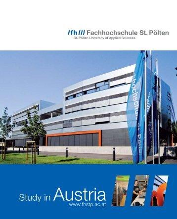 Study in Austria - Fachhochschule St. Pölten
